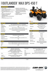 CAN-AM OUTLANDER MAX DPS 450 T 2020, yli 60 km/h - Orange