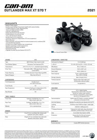 CAN-AM OUTLANDER MAX XT 570 T 2021 - Iron Gray/Octaine Blue