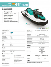 Sea-Doo GTI 130 STD 130 2020 Reef Blue