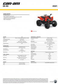 CAN-AM DS 90 2021 - Can-Am Red