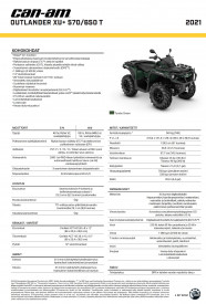 CAN-AM OUTLANDER XU+ 570 T 2021, max. 60km/h - Tundra Green