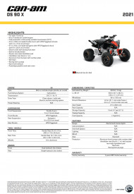 CAN-AM DS X 90 2021 - Black/Can-Am Red