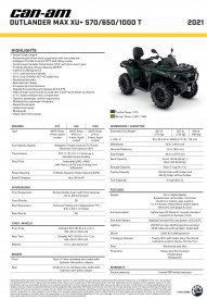 CAN-AM OUTLANDER MAX XU+ 570 T 2021, max. 60km/h - Tundra Green
