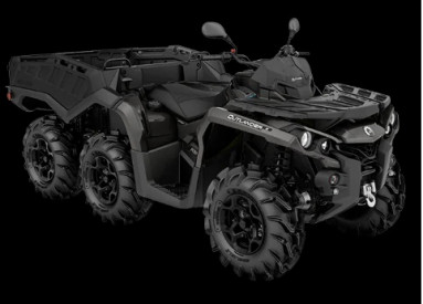 CAN-AM OUTLANDER 6X6 PRO+ SIDEWALL 1000 T 2020, 60 km/h - Pure Magnesium Metalli