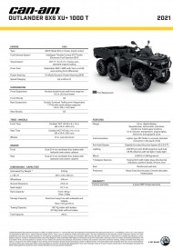 CAN-AM OUTLANDER 6X6 XU+ 1000 T 2021, max 60 km/h - Pure Magnesium Metallic
