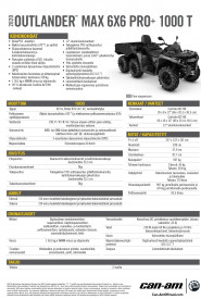 CAN-AM OUTLANDER MAX 6X6 PRO+ SIDEWALL 1000 T 2020, 60 km/h - Pure Magnesium Met