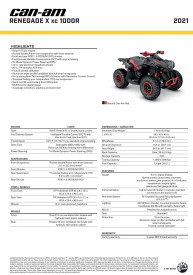 CAN-AM RENEGADE X XC 1000 T 021 - Black/Can-Am Red