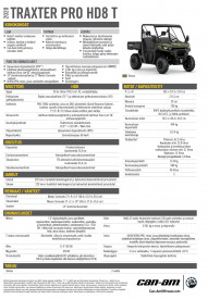 CAN-AM TRAXTER PRO HD8 T 2020, max 60 km/h - Hyper Silver