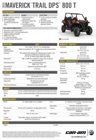CAN-AM MAVERICK TRAIL DPS 800 T 2020,  yli 60 km/h - Can-Am Red