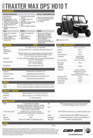 CAN-AM TRAXTER MAX DPS HD10 T 2020, max. 60 km/h - Hyper Silver