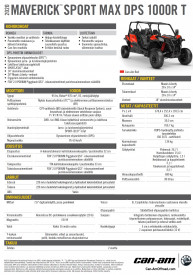 CAN-AM MAVERICK SPORT MAX DPS 1000R T 2020, yli 60 km/h - Can-Am Red