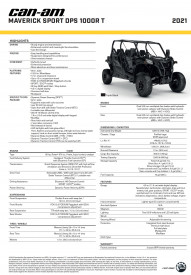CAN-AM MAVERICK SPORT MAX DPS 1000R T 2021 - Triple Black