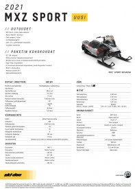 SKI-DOO MXZ SPORT 600 EFI ES 2021 - Catalyst Grey/Bare