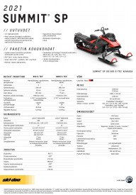 SKI-DOO SUMMIT SP 146 850 E-TEC ES 2021 - Lava Red/Black
