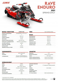 LYNX RAVE RE 3500 850 E-TEC 2021 - Viper Red/Black/White