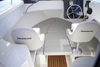 QUICKSILVER CAPTUR 675 PILOTHOUSE + MERCURY F150 XL