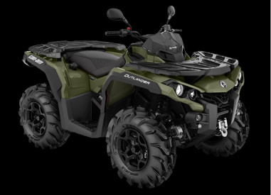 CAN-AM OUTLANDER PRO+ 570 T 2020, 60 km/h - Vihreä